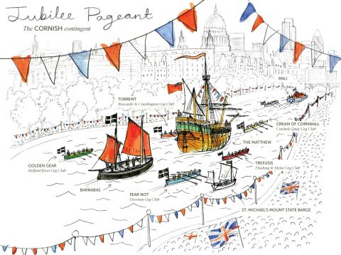 Trefusis Off to Jubilee Pageant