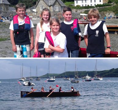 First ever racing for Juniors at Durgan Regatta