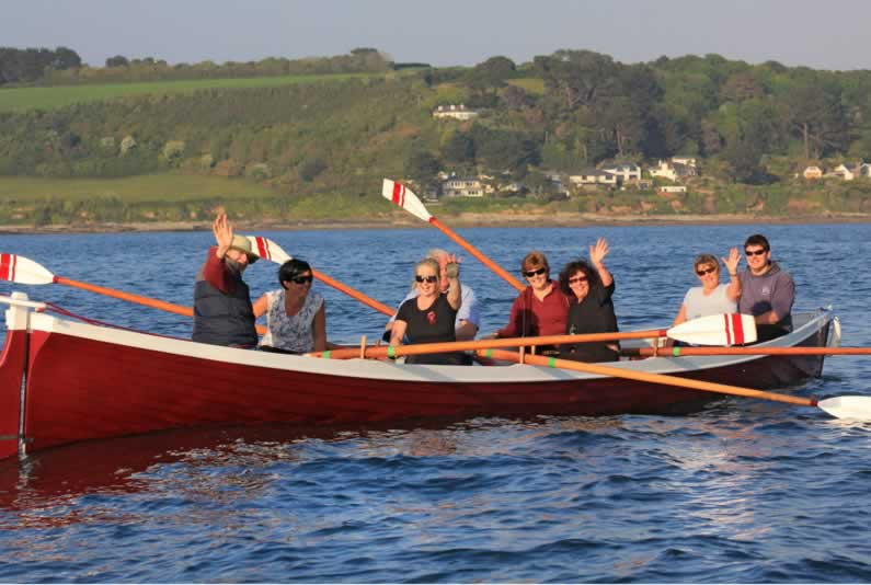 social row to st mawes